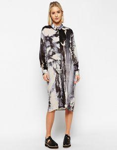 ASOS WHITE Abstract Shirt Dress