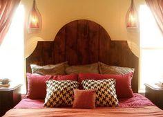 headboard reclaimed timber wood