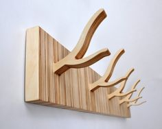 ... For Coats : Sleek Wooden Wall Hooks For Coat Small Home Furniture