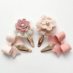 Discover thousands of images about Champagne Ivory Hairclip * Baby Hairclip * Gold Snap Clip * Newborn Hairclip * Blush Ivory Felt Bows Girls Mini Hairclip Lace Pearl Hairclip Diy Headband, Baby Headbands, Felt Flowers, Fabric Flowers, Felt Hair Clips, Baby Hair Clips, Barrettes, Hairbows, Felt Bows