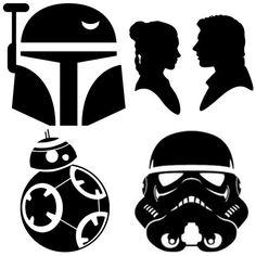 Star Wars Vinyl  star wars stickers  star wars by HANGINBYTHREADZ
