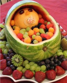 Watermelon Baby Carriage- Doing this on Christmas !! Cant wait to suprise my family :)