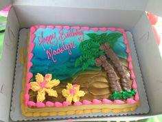Luau Party cake More (hawaiian luau party diy) Hawaiian Birthday Cakes, Birthday Sheet Cakes, Hawaiian Luau Party, Luau Party Cakes, Lula Party, Hawaii Cake, Beach Cakes, Summer Cakes, Diy Cake