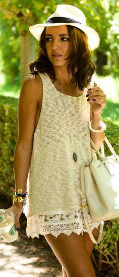 Chicwish White Crochet Loose Shorts by Lovely Pepa