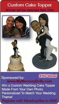 wedding contests - Win a custom cake topper in this wedding giveaway!