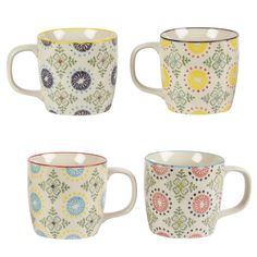 Sass and Belle Ceramic Print Zahara Mug Cream and Green Moroccan / Ethic Design in Home, Furniture & DIY, Cookware, Dining & Bar, Tableware, Serving & Linen | eBay