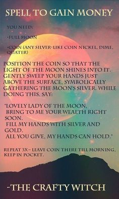 Full Moon Spell to Gain Money
