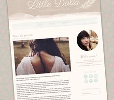 Little Dalia Blogger Template - Luvly Marketplace | Premium Design Resources #blogger #templates