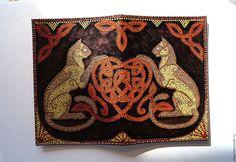 Купить Кожаная обложка на паспорт Хранители - авторская ручная работа, handmade, идея подарка
