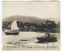 Photo of Camden Harbor, ME in 1903 from the Camden Public Library.