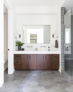 Bathroom decor for the master bathroom renovation. Discover bathroom organization, bathroom decor tips, master bathroom tile ideas, master bathroom paint colors, and more. Bathroom Design Inspiration, Bathroom Interior Design, Master Bathroom Designs, Contemporary Bathroom Inspiration, Spa Master Bathroom, Bathtub Designs, Industrial Bathroom Design, Bathroom Furniture Design, Relaxing Bathroom