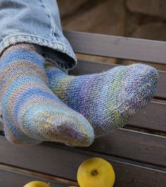 Beginner socks for magic loop - fingering - multi. FREE PATTERN for toe-up or top-down with link to 'Judy's Magic Cast on' from Knit Freedom (you have to sign up but it's very fast and free with lots of tips and helpful tutorials)