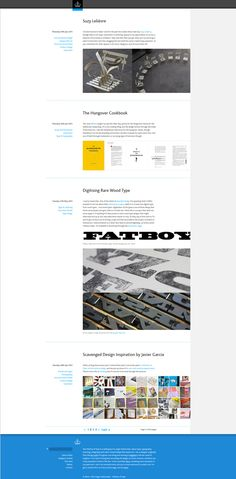 The Ministry of Type is a weblog by Aegir Hallmundur, about type, typography, lettering, calligraphy and other related things.