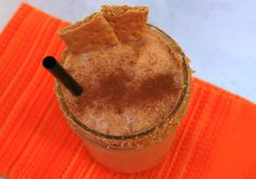 Creamy Dreamy Pumpkin Pie Milkshake #vegan #healthy #peppersandpeaches.com
