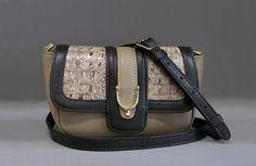 Women bag of LULU from a genuine leather. Fashion bag. Leather handbags