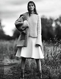 countryside: giedre dukauskaite by emma tempest for amica august 2013 | those exaggerated cuffs!