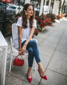 37 Cute Casual Spring Outfit You Must Have – style ideas Fashion Blogger Style, Fashion Mode, Fall Fashion Outfits, Look Fashion, Spring Outfits, Casual Outfits, Work Outfits, Office Outfits, Womens Fashion