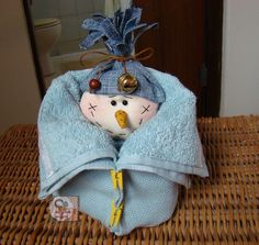 "Toalinha de lavabo ""Boneco de neve"" 
