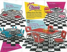 Still in production after nearly 70 years: Acme Chrome Dinettes made from 1949 to - Retro Renovation Retro Table And Chairs, Retro Kitchen Tables, Vintage Kitchen Decor, Retro Home Decor, 1950s Kitchen, Diner Kitchen, High Chairs, Kitchen Islands, Bar Chairs