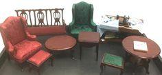 Miniature Dollhouse Furniture Formal Chairs