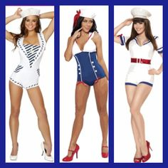 Our Navy Girrrls just arrived! #halloween #halloweencostume #sexyhalloweencostume #sexycostume #navygirl #vintage #pinupcostume #pinup #naughtycostume #navy #boatgirl #retro #costumes #costume #fun #shop #girls