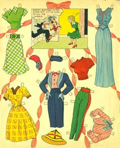Blondie 1954 - Bobe Green - Picasa Web Albums Paper Toys, Paper Crafts, My Size Barbie, Blondie And Dagwood, Paper Doll Costume, Wooden Clothespins, Bobe, Beautiful Costumes, Pattern Paper