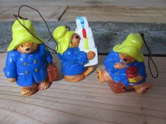 3 Vintage 1978 Paddington Bear Holiday Christmas Ornaments by Eden Toys Inc. #EdenToys #Christmas