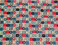 """Cross Patch"" Textile - Ray Eames"