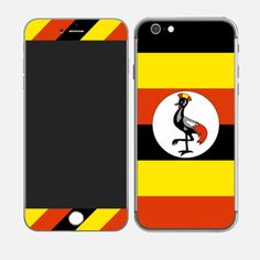 #iPhone6plus Flag of Uganda http://skin4gadgets.com