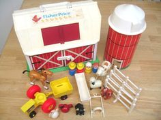 Fisher Price made the coolest toys!!  Barn with accessories...remember!!!