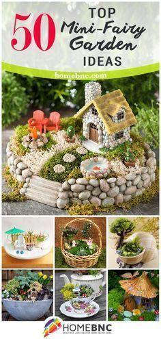 Miniature DIY Fairy Gardens #miniaturefairygardens