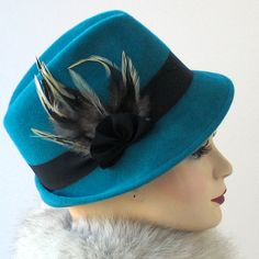 Teal hoed-Womens Hat - val Fashion - Turquoise Hat - Winter accessoires -  hoed 702343ca19e