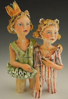 Green Dancer ceramic sculpture by artist victoria rose martin.