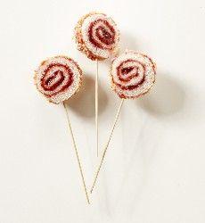 Bread lollipop...  What a great idea!