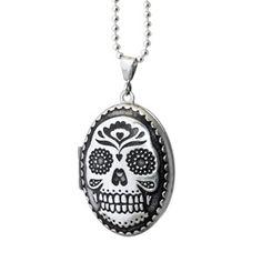 Keepsake Locket - Skull   www.askulkiffoxes.com