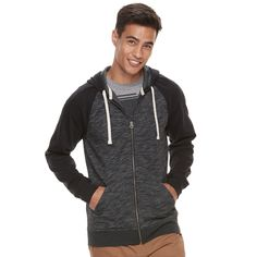 Men's Urban Pipeline® Full-Zip Hoodie, Size: Medium, Black