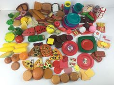Children's Play Food and Dishes for Kitchen Sets Lot of 150 Pieces Total Cook | eBay