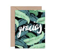 "DAYDREAM PRINTS - ""Gracias"" Card"