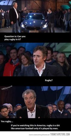 It's the little things that make the difference…Rugby. like football but played by MEN. love it.