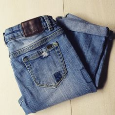 Check this item I am selling on Totspot, the resale shopping app for kids' clothes.   Patchwork Jeans by RUUM  RUUM  Love this! #kidsfashion