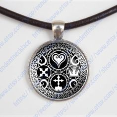 Kingdom Hearts Ultimania Trinity Emblem by pendentnecklace on Etsy, $12.88