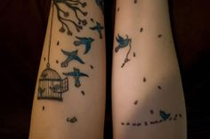 tree and bird tattoo | Wendys Bird Cage & Flying Birds Tattoos – Made Mistakes