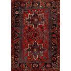 Vintage Hamadan Red/Multi 5 ft. 3 in. x 7 ft. 6 in. Area Rug