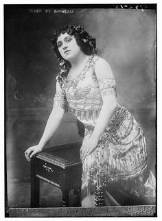 American opera singer Margarethe Arndt-Ober (1885-1971) as Amneris in Giuseppe Verdi's Aida. Arndt-Ober performed with the Metropolitan Opera in New York City between 1913 and 1917.