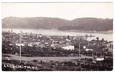 View of Roberts Street in Ladysmith on Vancouver Island, B.C. circa 1908-1911, by J.A. Knight of Ladysmith, B.C.