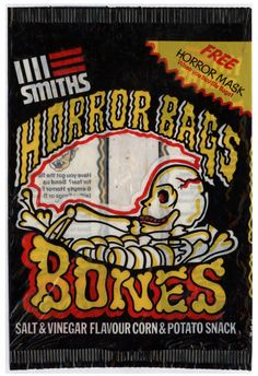 Horror Bags - Bones by Smiths 1970s Childhood, My Childhood Memories, Childhood Toys, Great Memories, Old Sweets, Vintage Sweets, Retro Sweets, Vintage Food, Vintage Stuff