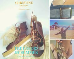 The #colors of #summer : A #beach concert  Christine Nikolaidou-Fine Shoes Collection for #summer2017 #beachlife