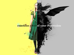 emotions control your expression | Mauricio Raffin #mixed_media