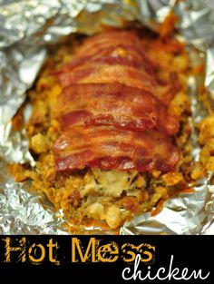 Easy Weeknight Dinner: Hot Mess Chicken...it looks like a hot mess, but it is GOOD!