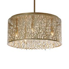Dramatic, with a hint of natural inspiration, the Floral Filigree 8-Light…